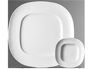 Teller flach quadratisch »Quadrondo«Plate flat squareAssiette plate carréePiatto piano quadrato