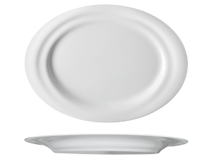 Teller flach oval »Piano ovale«Plate flat ovalAssiette plate ovalePiatto piano ovale